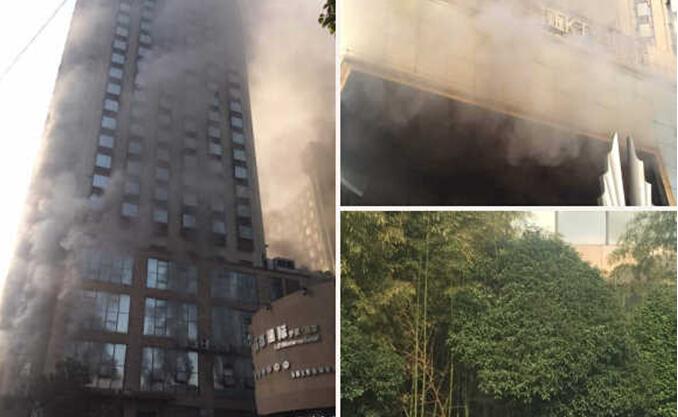 南昌一家星级酒店起火 致3死14伤